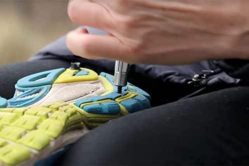 pigg skoene selv, ispigger på turskoene